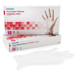 MON41641310 - McKessonExam Glove Confiderm NonSterile Powder Free Vinyl Smooth Clear Small Ambidextrous