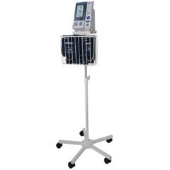 MON41942500 - Omron HealthcareBlood Pressure Monitor Cart IntelliSense® Stainless Steel 22-1/2 X 22 Inch 1 Basket, 1 Shelf Silver
