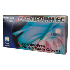 MON42011300 - McKessonExam Glove FLEXIFORM® EC NonSterile Powder Free Nitrile Textured Fingertips Blue Chemo Rated X-Large Ambidextrous, 50EA/BX