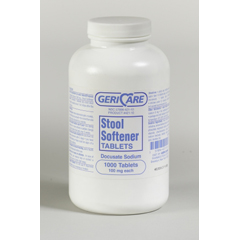 MON42112700 - McKessonDocusate Sodium Laxative Tablets 100Mg, 1000 per Bottle