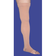 MON42140300 - BSN Medical - Compression Stockings JOBST Relief Thigh High Large Black Closed Toe, 2 EA/PR