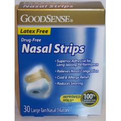 MON42162700 - Geiss, Destin & DunnGoodSense® Nasal Strips, 30/BX, Tan, Large