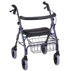 MON42203800 - Nova Ortho-Med - Rolling Walker Cruiser Deluxe Blue Adjustable Height