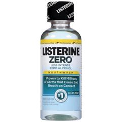 MON42381700 - Johnson & JohnsonMouthwash Listerine® Zero™ 3.2 oz. Clean Mint
