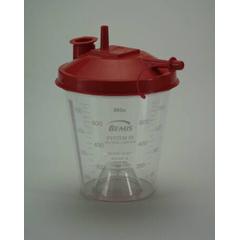 MON42444000 - Bemis HealthcareSuction Canister Hydrophobic Rigid 800 mL Self Sealing Lid, 10EA/PK