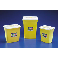MON42522801 - MedtronicChemotherapy Waste Container 8 Gallon Yellow Base Sliding Lid
