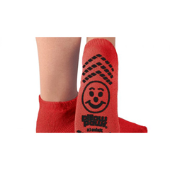 MON42651000 - PBESlipper Socks Tred Mates Adult X-Large Red Ankle High