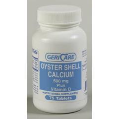 MON42752700 - McKessonCalcium Supplement with Vitamin D 500 mg / 200 iu Tablets, 75EA per Bottle