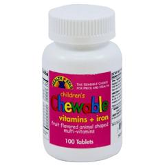 MON42872700 - Geri-CareChildrens Multivitamin Health Star 2500 IU / 400 IU / 60 mg Strength Chewable Tablet 100 per Bottle