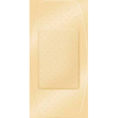 MON42942000 - Derma SciencesAdhesive Strip First Aid Fabric 2 X 4 Inch Rectangle Beige, 50EA/BX