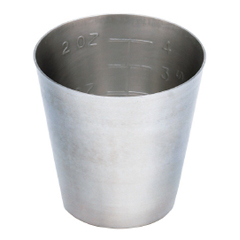 MON43151200 - McKessonMedicine Cup Argent 2 oz. Silver Stainless Steel