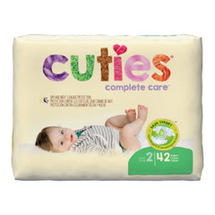 MON43213101 - First QualityCuties® Diapers, Size 2, 12-18 lbs., 42/PK