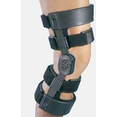 MON43553000 - DJOHinged Knee Brace WeekENDER® Medium Hook and Loop Straps 18-1/2 to 21 Inch Circumference Right Knee