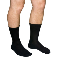 MON43643000 - Scott SpecialtiesDiabetic Compression Socks Crew Medium Black Closed Toe
