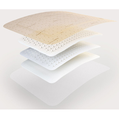 MON43792110 - Molnlycke Healthcare - Foam Dressing Mepilex Border Flex 3 X 3 Inch Square Adhesive with Border Sterile, 5/BX, 10BX/CS