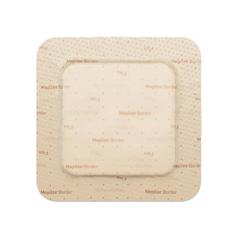 MON43802100 - Molnlycke Healthcare - Foam Dressing Mepilex Border Flex 4 X 4 Inch Square Adhesive with Border Sterile, 5/BX