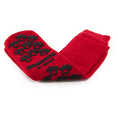 MON43811200 - McKesson - Slipper Socks Adult X-Large Red Above the Ankle