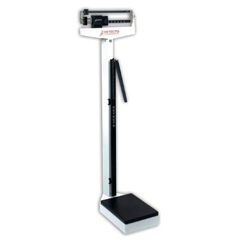MON43903700 - Detecto ScalePhysicians Scale Balance Beam 400 lbs. X 4 oz. White Mechanical