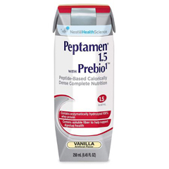 MON43982600 - Nestle Healthcare NutritionOral Supplement Peptamen® 1.5 WITH PREBIO1™ Vanilla 8 oz., 24EA/CS