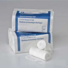 MON44022000 - Medtronic - Stretch Bandage Dermacea® Cotton / Polyester 3 Inch X 12 Foot, 12PK/BX 8BX/CS