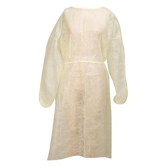 MON44051100 - McKessonIsolation Gown Medi-Pak® Performance One Size Fits Most Polypropylene Yellow Adult, 50EA/CS