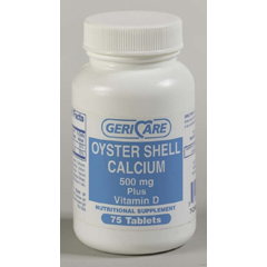 MON44392712 - McKessonCalcium with Vitamin D Supplement 500 mg Strength Tablet 60 per Bottle