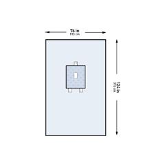 MON44481201 - McKesson - Abdominal Drape Pediatric Laparotomy Drape 76 W X 124 L Inch Sterile, 1/PK