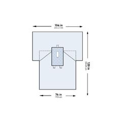 MON44531200 - McKesson - Abdominal Drape Laparotomy Drape 102 W X 76 W X 120 L Inch Sterile, 13/CS