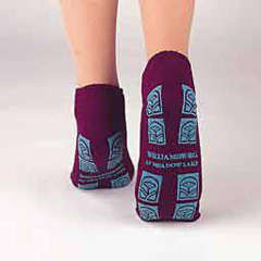 MON44591200 - PBESlipper Socks Tred Mates Gray Ankle High