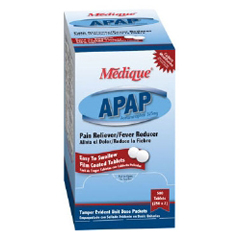 MON45132700 - Medique ProductsPain Reliever APAP™ Tablets 325 mg, 2EA/PK, 250PK/BX