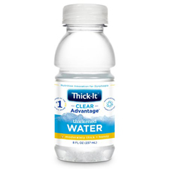 MON45302601 - Kent Precision FoodsThickened Water Thick-It AquaCareH2O 8 oz. Bottle Unflavored Ready to Use Honey
