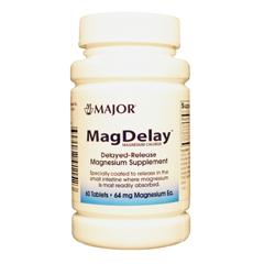 MON45522700 - Major PharmaceuticalsMagnesium Supplement MagDelay 64 mg Strength Tablet 60 per Bottle
