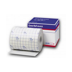 MON45552000 - JobstCover Roll Stretch Cross Elastic Non-woven Bandage 4in x 10 Yds Hypoallergenic