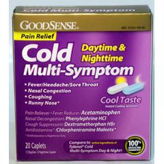 MON46052700 - Geiss, Destin & DunnCold Relief GoodSense 325 mg / 10 mg / 5 mg Strength Tablet 20 per Box