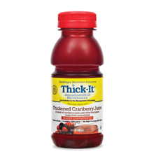 MON46112601 - Kent Precision FoodsThickened Beverage Thick-It AquaCareH2O 8 oz. Bottle Cranberry Ready to Use Honey