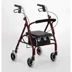 MON46403800 - Merits HealthRollator W464 Junior Red Aluminum