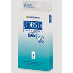 MON46440300 - JobstRelief Thigh-High Open-Toe Anti-Embolism Compression Stockings