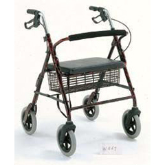 MON46703800 - Merits HealthRollator Red Bariatric Aluminum