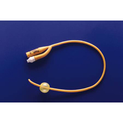 MON46871900 - Teleflex MedicalFoley Catheter PureGold 2-Way Coude Tip 5 cc Balloon 24 Fr. Coated Latex
