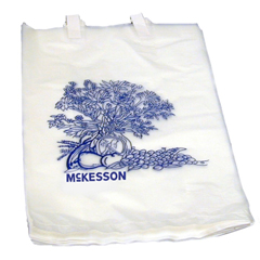 MON47221200 - McKesson - Bedside Bag Medi-Pak® 7 X 11-1/2 Inch White with Blue Floral Print Polyethylene, 100EA/BG 20BG/CS