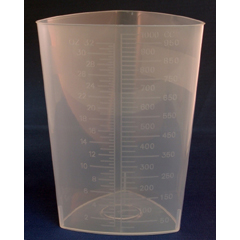 MON47362900 - McKessonTriangular Graduated Container Polypropylene Without Lid 32 oz.