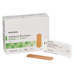 MON48112000 - McKessonAdhesive Strip Medi-Pak™ Performance Fabric 1 X 3 Rectangle Beige, 100EA/BX