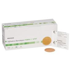 MON48122000 - McKesson - Medi-Pak™ Performance Adhesive Spot Bandage, 1 Round Beige, 100EA/BX