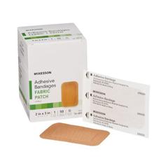 MON466874CS - McKesson - Adhesive Strip Medi-Pak Performance 2 x 3 Fabric Rectangle Tan Sterile