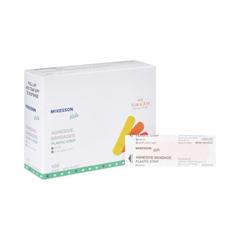MON48372000 - McKessonKids™ Adhesive Strips, 3/4 X 3 Plastic Rectangle Neon Sterile, 100/BX
