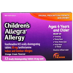 MON48382700 - ChattemAllergy Relief Childrens Allegra 30 mg Strength Tablet 12 per Box