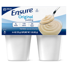 MON763389EA - Abbott Nutrition - Oral Supplement Ensure® Pudding Vanilla 4 oz. Cup Ready to Use