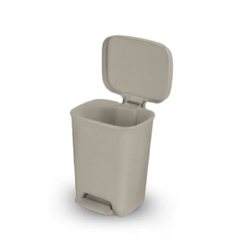 MON48867100 - McKessonStep On Trash Can Select 32 Quart Beige Plastic