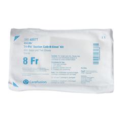 MON48974000 - CarefusionSuction Catheter Kit AirLife Cath-N-Glove 8 Fr. NonSterile