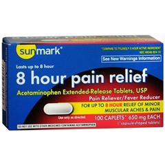 MON49342710 - McKessonPain Reliever sunmark® Caplets 650 mg, 100 per Bottle